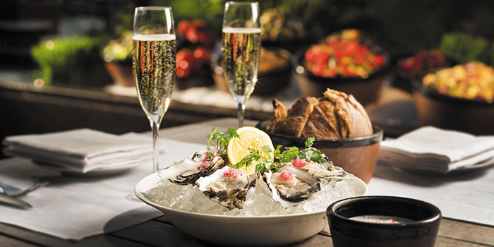 The Grill Oyster with Champagne, The Grill, Wan Chai, Hong Kong