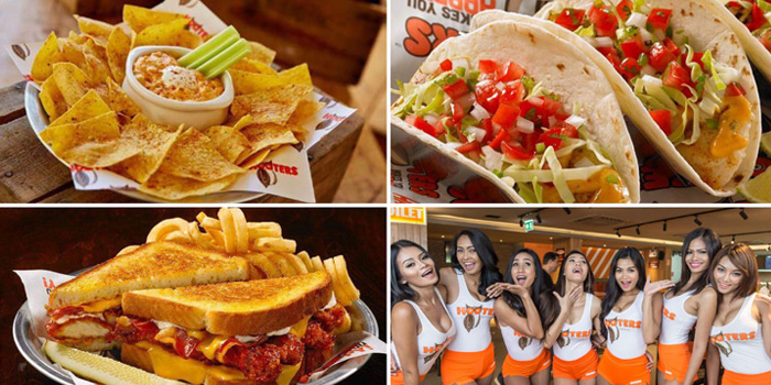 Selection from Hooters at 4 Sukhumvit Soi.15, Sukhumvit Road, Bangkok