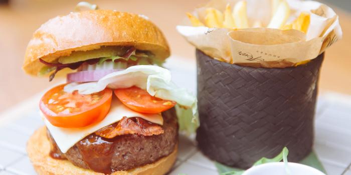 Wagyu-Burger from Cafe Del Mar in Kamala, Phuket, Thailand.
