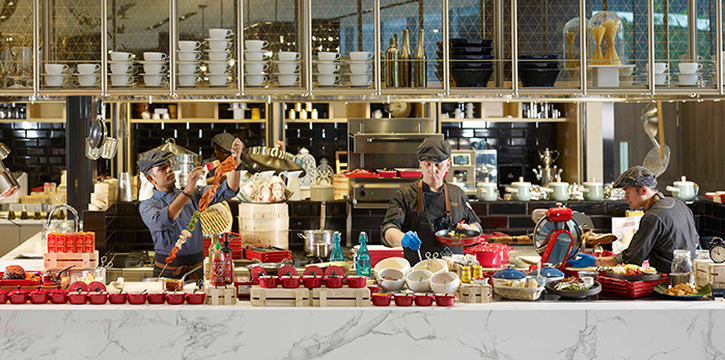 Interior of Food Exchange at Novotel Singapore on Stevens in Tanglin, Singapore