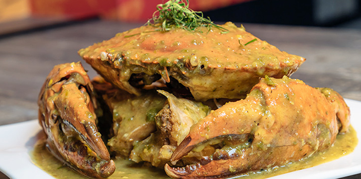 Green Chilli Crab from HolyCrab in City Hall, Singapore