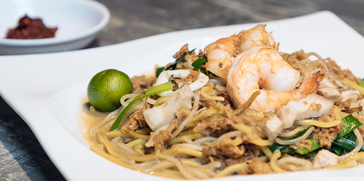 Hokkien Mee from HolyCrab in City Hall, Singapore