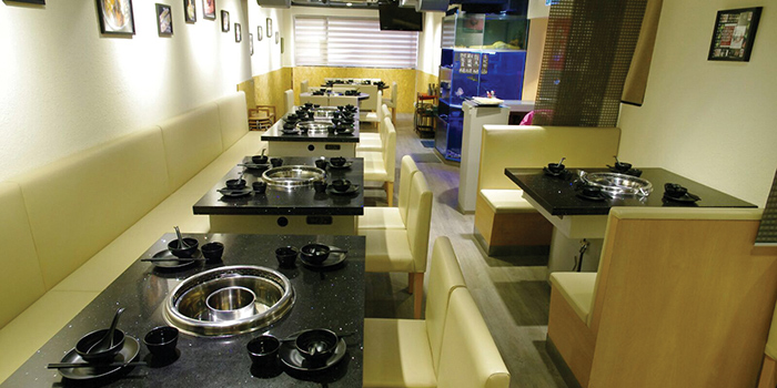 Dining Area, Seansin Seafood Hotpot Experts, Jordan, Hong Kong