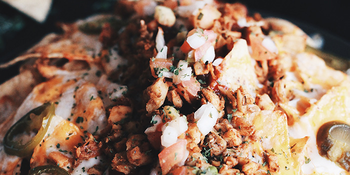Cajun Chicken Nachos from Afterwit - Mexican Taqueria in Bugis, Singapore