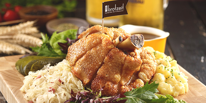 Crispy Oven Roasted Pork Knuckle from Brotzeit German Bier Bar & Restaurant (Westgate) in Jurong, Singapore