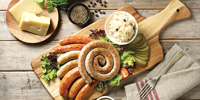 Sausage Platter from Brotzeit German Bier Bar & Restaurant (Westgate) in Jurong, Singapore