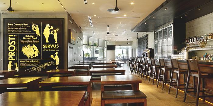 Interior of Brotzeit German Bier Bar & Restaurant (VivoCity) in Harbourfront, Singapore