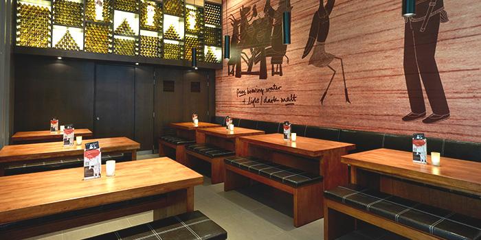 Dining Area of Brotzeit German Bier Bar & Restaurant (Westgate) in Jurong, Singapore