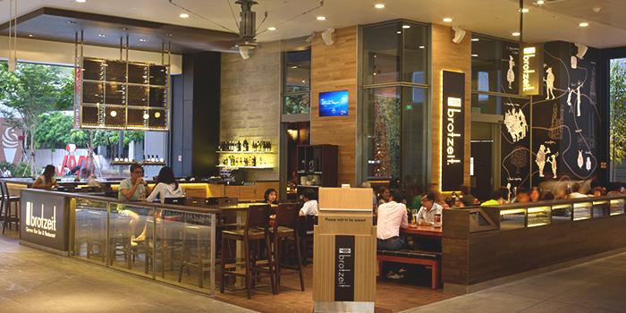 Interior of Brotzeit German Bier Bar & Restaurant (Westgate) in Jurong, Singapore