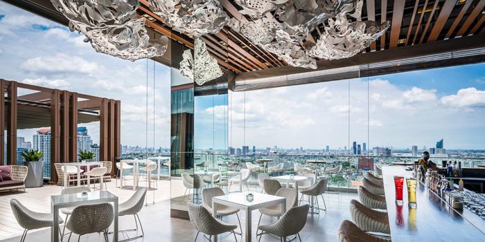 Bar Area from Attitude Rooftop Bar & Restaurant at AVANI Riverside Bangkok Hotel Charoennakorn Road Thonburi, Bangkok