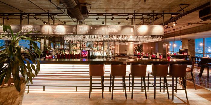 The Bar Area from Scarlett Wine Bar & Restaurant at Pullman Bangkok Hotel G 37th Floor, 188 Silom Rd, Bangrak, Bangkok