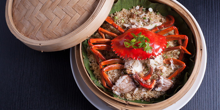 Crab-Sticky-Rice-with-Chinese-Herbs from Red Rose Restaurant & Jazz Bar at Shanghai Mansion in Yaowaraj Road, Samphantawong, Bangkok