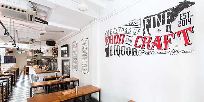 Dining Area of Drinks & Co Grill in Club Street, Singapore