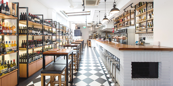 Interior of Drinks & Co Grill in Club Street, Singapore