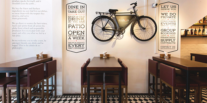 Dining Area of Drinks & Co Kitchen in Holland Village, Singapore