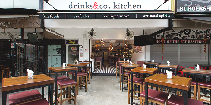 Exterior of Drinks & Co Kitchen in Holland Village, Singapore