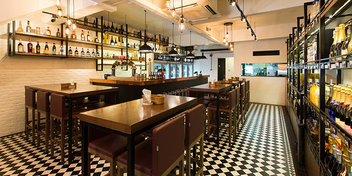 Interior of Drinks & Co Kitchen in Holland Village, Singapore