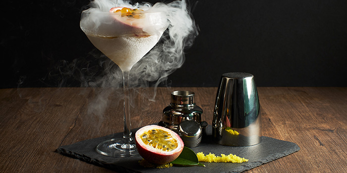 Nitro-Frost Caviar Martini from Dusk Restaurant & Bar at Mount Faber in Habourfront, Singapore