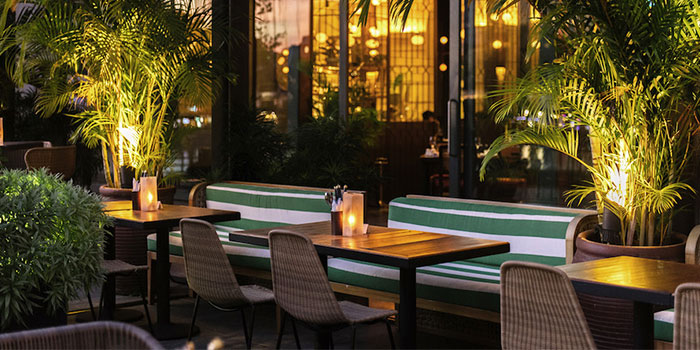 Outdoor Dining Area of EMPRESS in City Hall, Singapore