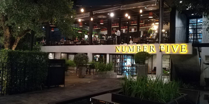 Entrance of Number Five Restaurant & Cafe at 202,222 Bang Khanun Bang Kruai, Nonthaburi