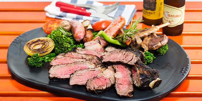 Grilled Steak Platter, Feather & Bone, Sai Ying Pun, Hong Kong