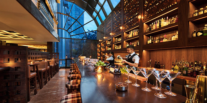 Martini Bar Interior in mezza9 in Grand Hyatt Singapore in Orchard, Singapore