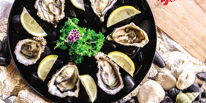 Import fresh Oysters  from Scarlett Wine Bar & Restaurant at Pullman Bangkok Hotel G 37th Floor, 188 Silom Rd, Bangrak, Bangkok