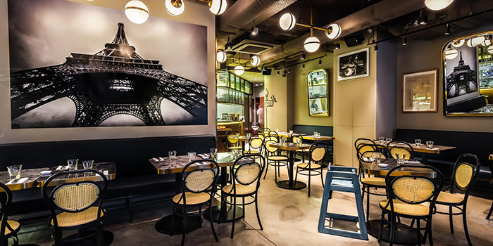 Interior, Eiffel Bistro, Taikoo Shing, Hong Kong
