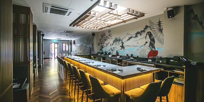 Interior of Don & Tori at Tras Street in Tanjong Pagar, Singapore