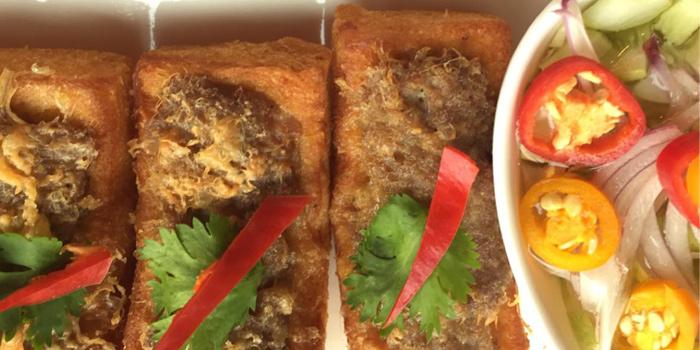 Khanom Pang Nah Moo from Number Five Restaurant & Cafe at 202,222 Bang Khanun Bang Kruai, Nonthaburi