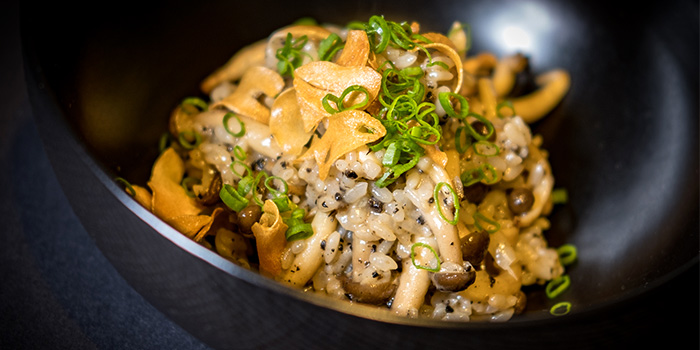Mushroom Risotto from Le Binchotan in Tanjong Pagar, Singapore
