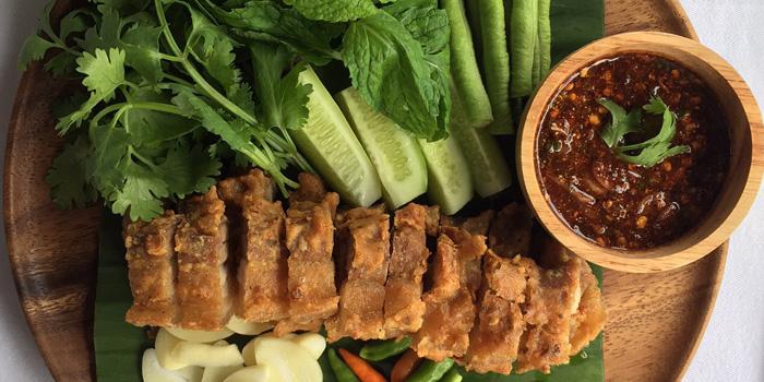 Moo Grob from Number Five Restaurant & Cafe at 202,222 Bang Khanun Bang Kruai, Nonthaburi