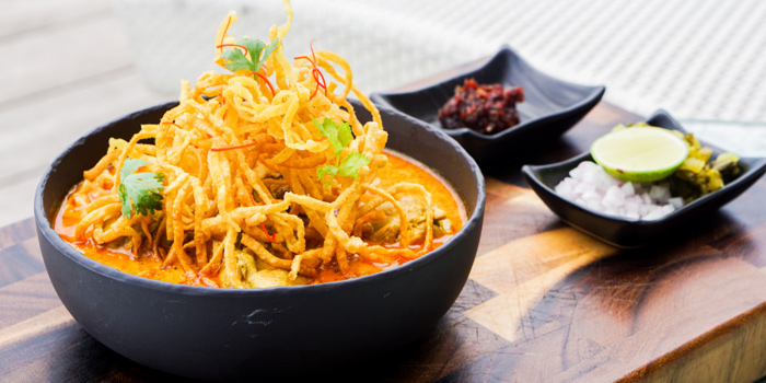 Northern Style Noodle from Attitude Rooftop Bar & Restaurant at AVANI Riverside Bangkok Hotel