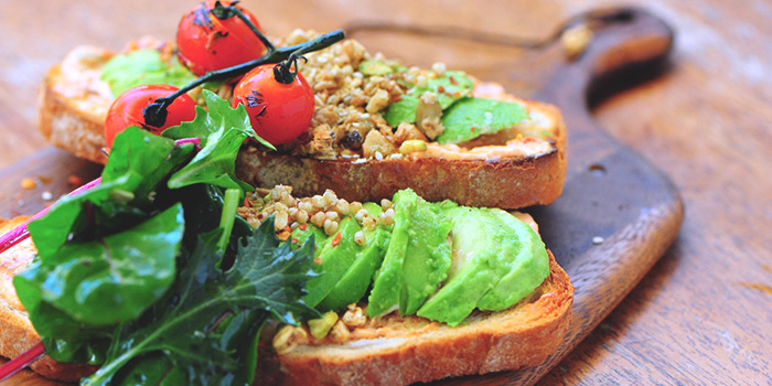 Middle Eastern Avocado Toast from Privé Orchard in Orchard Road, Singapore