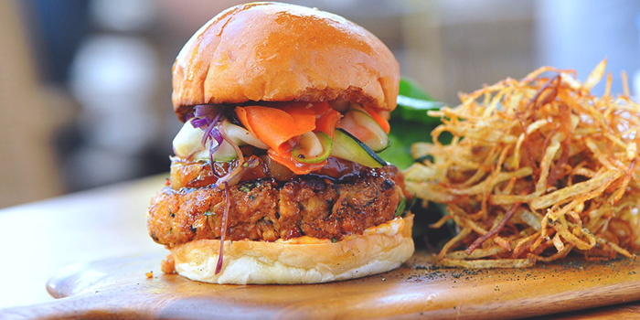 Tofu Teriyake Burger from Privé Wheelock in Orchard Road, Singapore