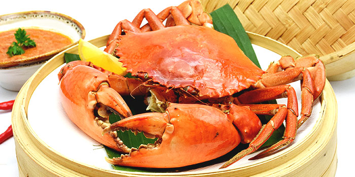Nanyang Steamed Crab with Chili Dip from Orient Palace 禧家 at Furama Riverfront Annex Building in Outram, Singapore