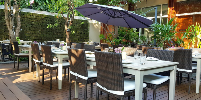 Outdoor Seating from French St. at O.P.Garden Soi Charoenkrung 36 Charoenkrung Road Bangrak, Bangkok