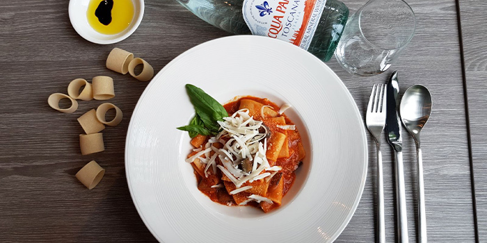Pasta alla Norma from In Piazza on Stevens Road in Orchard, Singapore