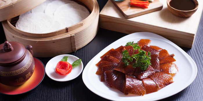 Peking-Duck from Red Rose Restaurant & Jazz Bar at Shanghai Mansion in Yaowaraj Road, Samphantawong, Bangkok
