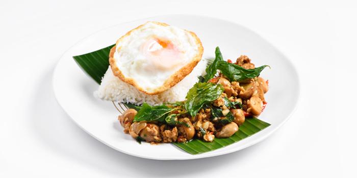 Khao Phad Krapao from Cafe Nine Bangkok Jim Thompson at 9, Surawong Road, Bangkok