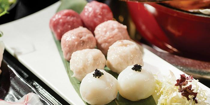 Pork & Mushroom Balls, Seansin Seafood Hotpot Experts, Causeway Bay, Hong Kong