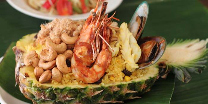 Seafood Pineapple Rice, Krua Walaiphan, Sai Ying Pun, Hong Kong