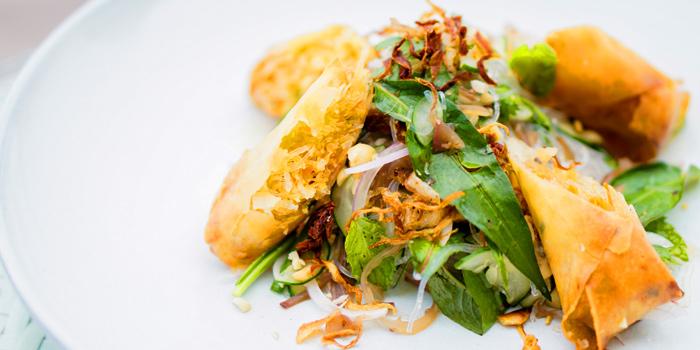Spring Roll from Attitude Rooftop Bar & Restaurant at AVANI Riverside Bangkok Hotel