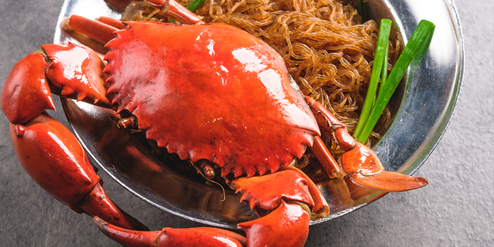 Steamed Crab with Glass Noodle from Kinkao at Central World 4,4/1-4/2 4/4 Ratchadamri Rd Pathumwan Bangkok