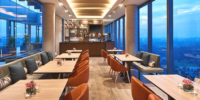 Interior of Urbana Rooftop Bar at Courtyard by Marriott Singapore in Novena, Singapore