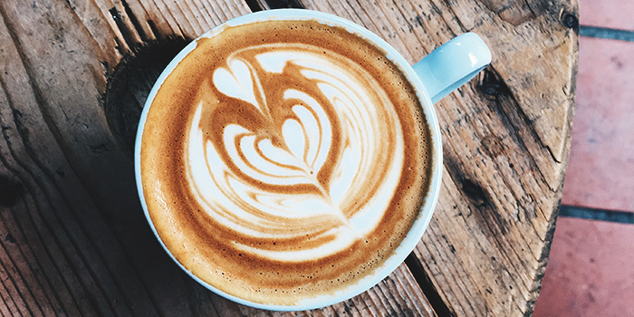 Latte from (working title) in Bugis, Singapore