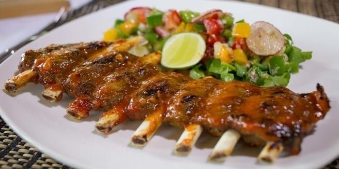 Pork Ribs at Gong Restaurant, Bali