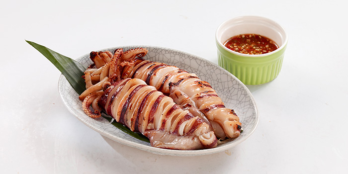 Grilled Squid from Bangkok Jam (Great World City) in River Valley, Singapore