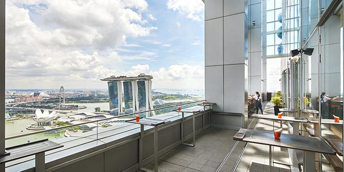 Terrace of LeVeL33 in Marina Bay Financial Centre in Marina Bay, Singapore
