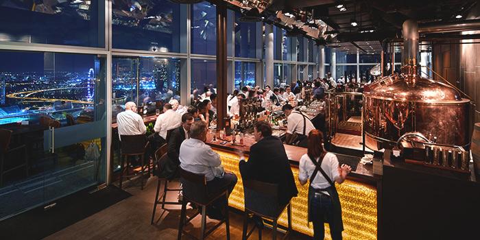 Bar & View of LeVeL33 in Marina Bay Financial Centre in Marina Bay, Singapore
